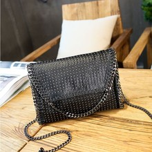 New Fashion gift Women Leather Retro Cell Phone Bag Wallet luxury handbag Neck Strap Inclined shoulder zipper Weave Rivet bag