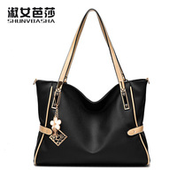 High Quality PU Leather Women Messenger Bag Big Shoulder Bag Large Capacity Totes Famous Brand Bolsa