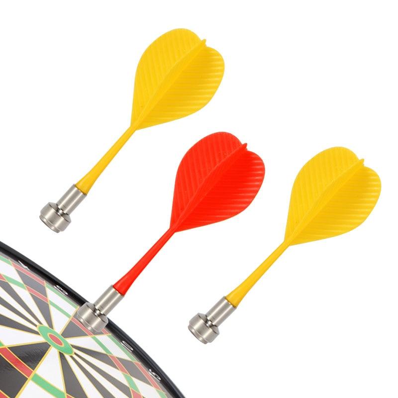 3 / 6PCS Four-color Plastic Wing-shaped Syringe Darts Nice Darts Wing Magnetic Darts Disk Magnet Darts