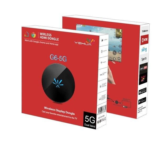 Mirascreen G6 Wifi 2.4 גרם/5 גרם תצוגת טלוויזיה Dongle HDMI 1080 p miracast AirPlay עבור ios אנדרואיד PC tablet טלפון כל יצוק Crome יצוק g2
