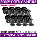 Высокое Качество! SONY 1200TVL Мегапиксельная Sony 1.0MP Открытый Водонепроницаемый Видеонаблюдения Ночного Видения ИК CCTV Камеры Безопасности