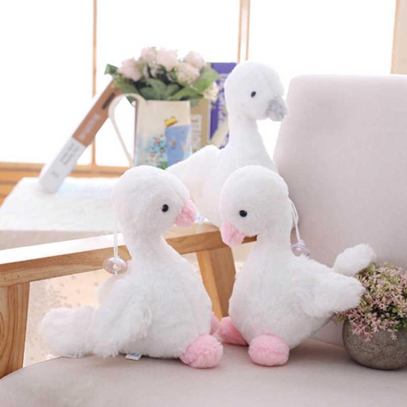 20 سنتيمتر لطيف الكرتون بجعة أفخم دمية صغيرة بيضاء أوزة لعبة الحيوانات ألعاب من القطيفة للأطفال الاطفال هدايا