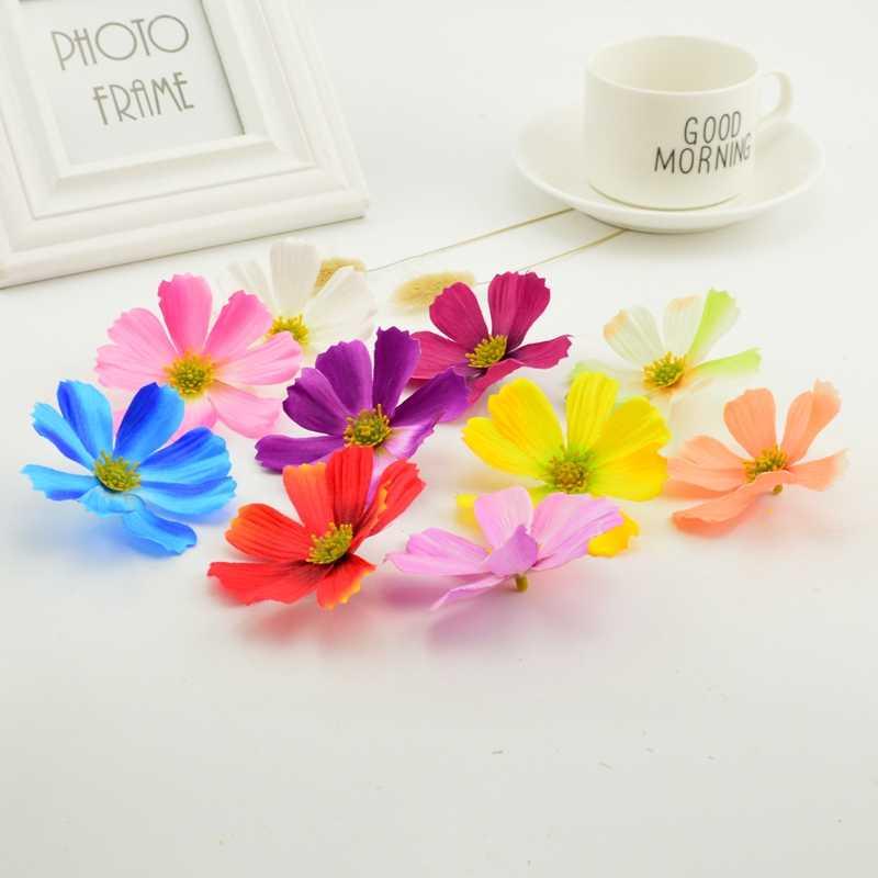 5pcs 7.5cm Large Silk Gerbera Artificial Flower Head For Wedding Car Decoration DIY Garland Decorative Floristry Flowers