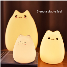 7 Colourful Mini LED USB Children Cat Dog Silicone Soft Baby Night Light Creative Rechargable Bulb For Bedroom Luminar