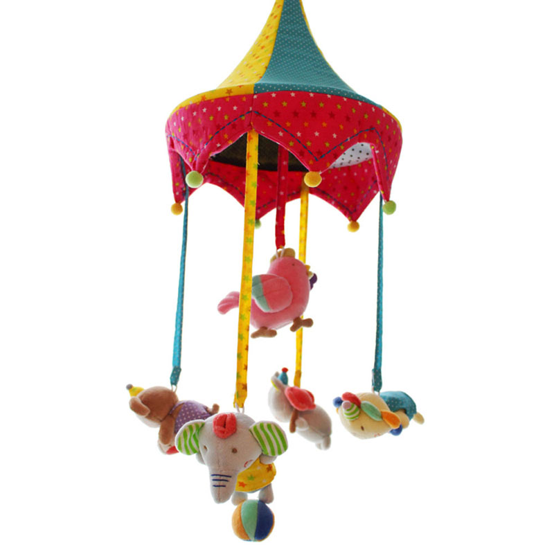 SHILOH Hot Sale New Musical Mobile Rotating Infant Mobile Baby Plush Toy Bed Wind Chime Rattles Stroller Newborn 60 Songs Circus newborn baby bed rotary music bell toy baby stroller toy rattles accessories pendant