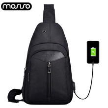 MOSISO Newest Crossbody Bags Men USB Charging Chest Pack Single Shoulder Strap Back Bag for Women Shoulder Bag Back Pack Travel men travel chest pack single rucksack england chest bags shoulder cross body bag external usb charge backpack women bag pack