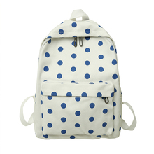 women dot backpack simple design girls rucksack Candy Color Canvas Women Backpacks Fashion Trend Casual Girls School Bags