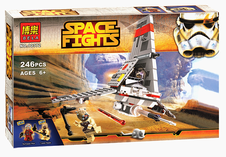 2017 new STAR WARS bela 10372 246pcs T-16 Jump space fighter building blocks bricks toys for children gifts Compatible With Lego toys in space
