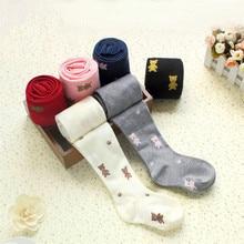 Girls Tights Pantys Kids Stocking Spring Cotton New-Fashion The Wool Flower Warm