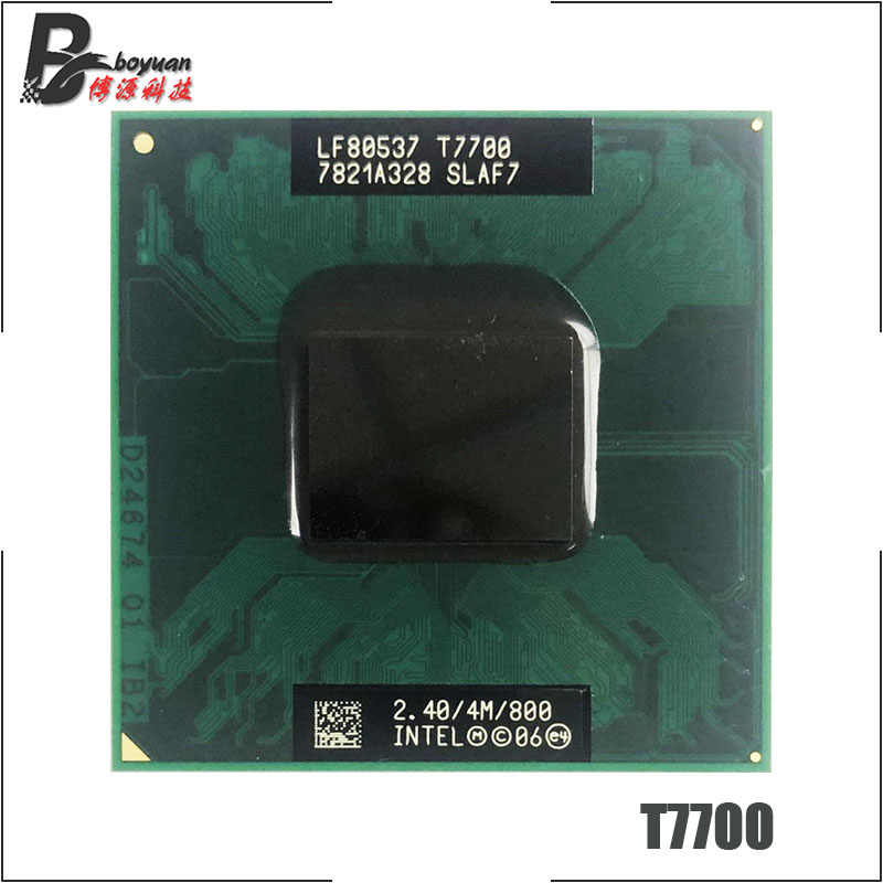 Intel Core 2 Duo T7700 SLA43 SLAF7 2.4 GHz Dual-Core Dual-Thread di CPU Processore 4M 35W Socket P