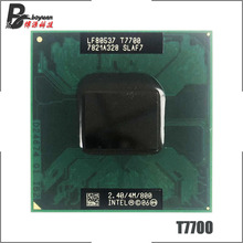 إنتل كور 2 Duo T7700 SLA43 SLAF7 2.4 GHz ثنائي النواة ثنائي الموضوع معالج وحدة المعالجة المركزية 4 متر 35 واط المقبس P