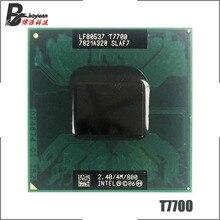 Процессор Intel Core 2 Duo T7700 SLA43 SLAF7, 2,4 ГГц, двухъядерный процессор с двойной резьбой, 4 м, 35 Вт, Socket P