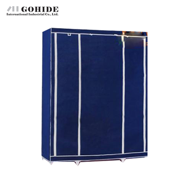 Gohide Ткань Шкаф Сочетание Шкаф Двойной Складной Шкаф Сборка DIY Шкафы, Гардероб Складной Мебели Для Гостиной