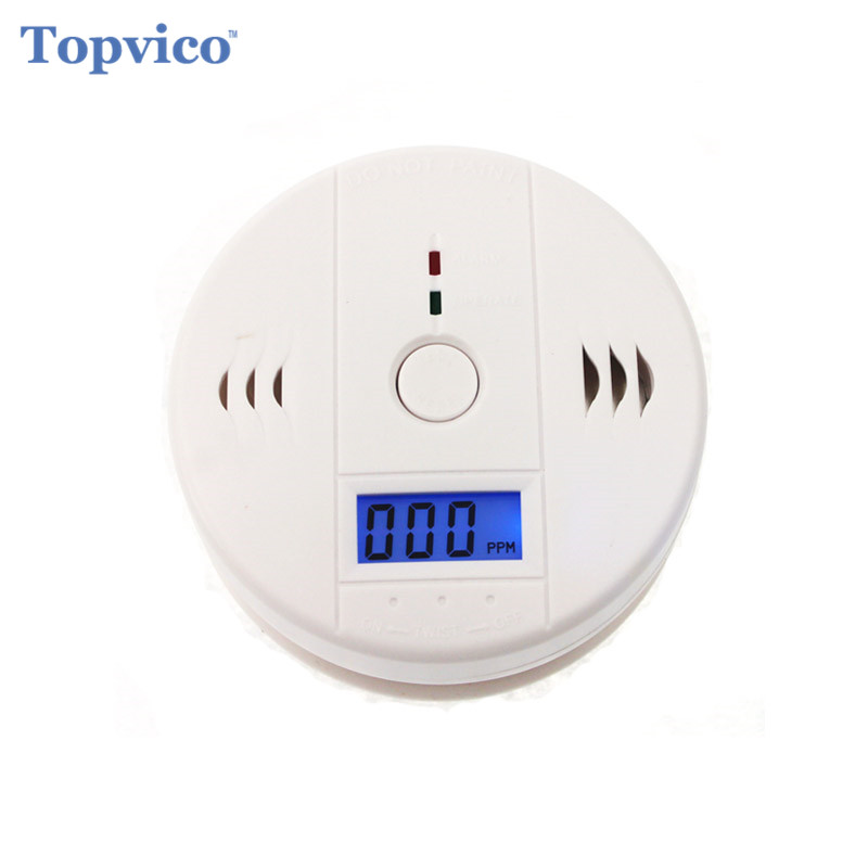 Topvico Wireless CO Carbon Monoxide Gas Detector Alarm Sensor High Sensitive Digital Backlight LCD House Home Security System topvico wireless co carbon monoxide gas detector alarm sensor high sensitive digital backlight lcd house home security system