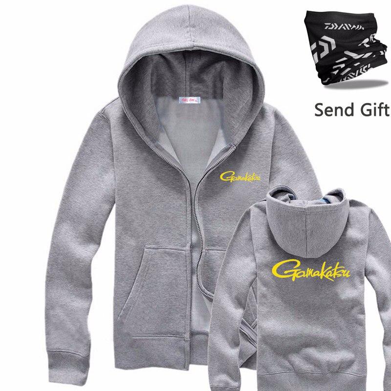 2018 hiver Gamakatsu nouveaux hommes vêtements de pêche pêche sweat-shirt Zipper Sweatershirt veste Sports de plein air Daiwa veste de pêche