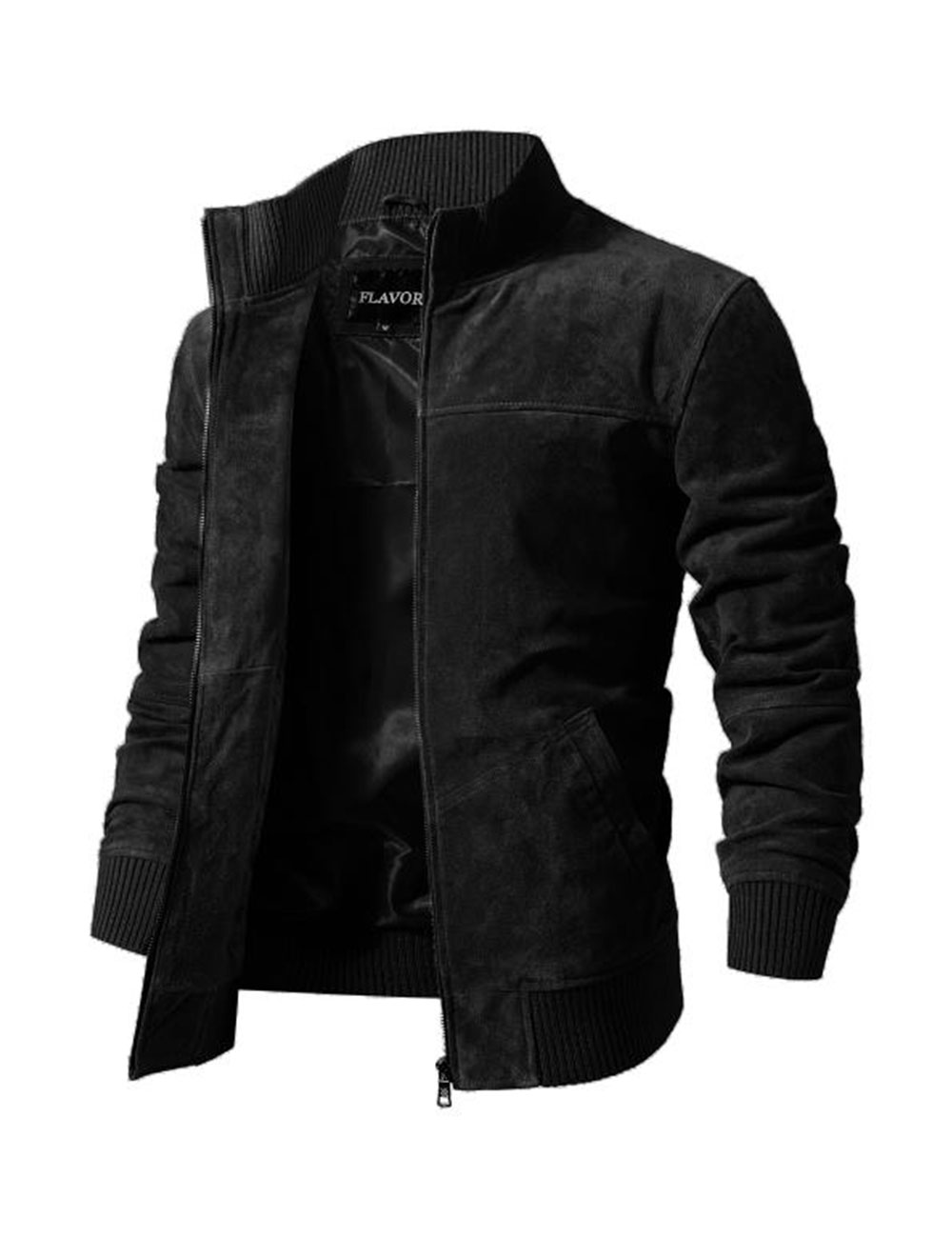 HTB1P9cTXvQypeRjt bXq6yZuXXak FLAVOR Men's Real Leather Jacket Men Pigskin Slim Fit Genuine Leather Coat With Rib Cuff Standing Collar