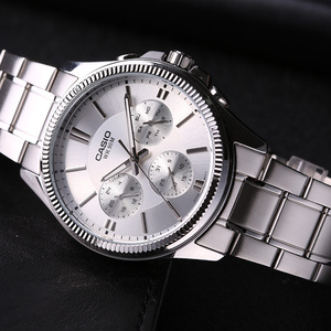 Image 5 - Casio Horloge Pointer Serie Zakelijke Entertainment Drie Tijd Quartz Mannelijke Horloges MTP 1375D 7A
