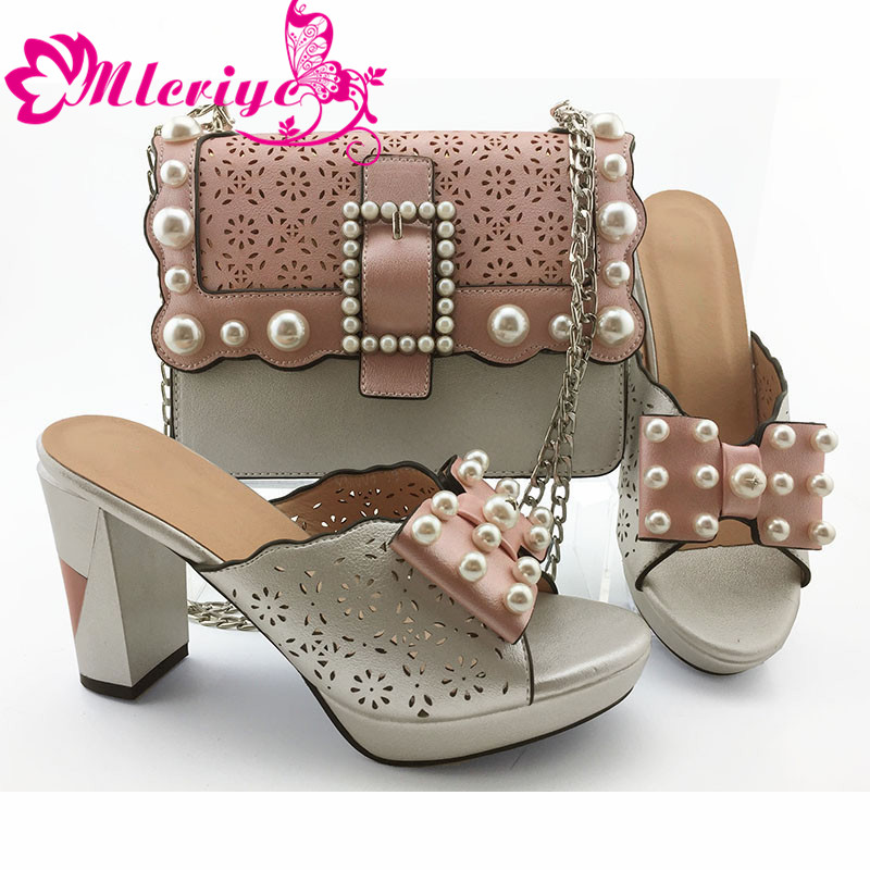 New Arrival Italian Shoes with Matching Bags Set Decorated with Rhinestone Bag and Shoes Set Italy Ladies Sandals with HeelsNew Arrival Italian Shoes with Matching Bags Set Decorated with Rhinestone Bag and Shoes Set Italy Ladies Sandals with Heels
