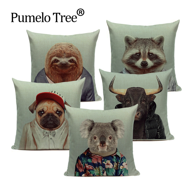 Decorazione animale cuscino cuscini home decor copertura del cuscino Personalizz