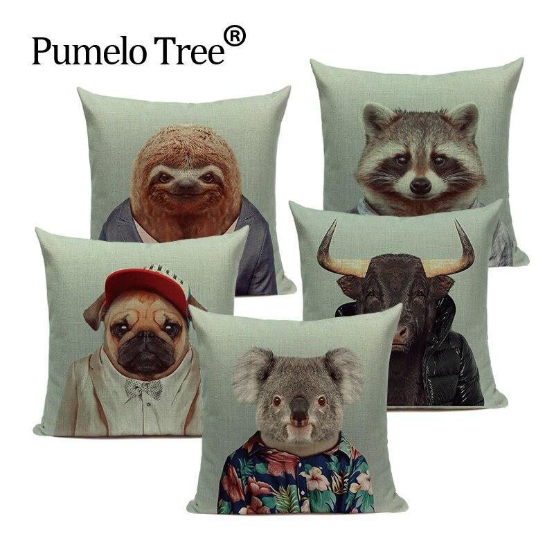 Мультяшные Декоративные Чехлы для подушек, подушки для животных, домашний декор, наволочки для подушек на заказ, милые уличные подушки Koala