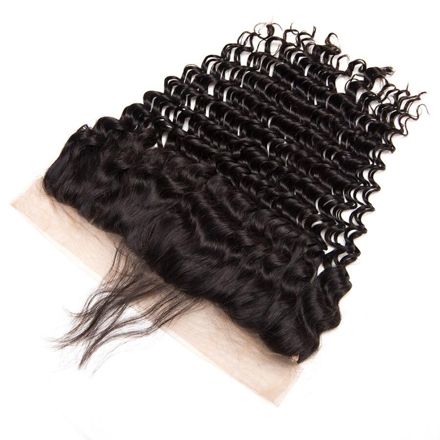 Vague profonde brésilienne oreille à l'oreille pré pincée - Cheveux humains (noir) - Photo 2