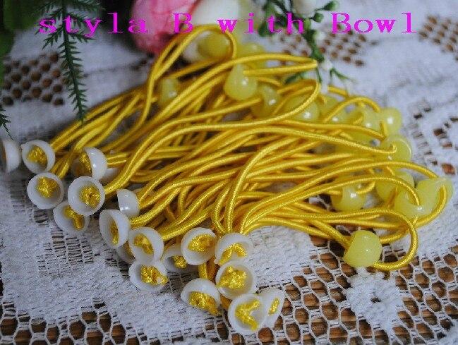 100 шт., аксессуары для волос для девочек, материалы, эластичные резинки для волос, резинки для волос с цветком сливы, FJ3301, 10 цветов