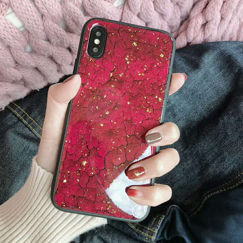 Luxury Gold Foil Bling Marble Phone Case For iPhone XS Max X XR Soft TPU Cover For iPhone 7 8 6 6s Plus Glitter Case Coque Funda (18)