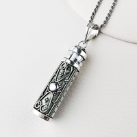 Real Pure 925 Silver Buddha Pendant For Women And Men Openable Antique Flower Pattern Retro Amulets And Talismans