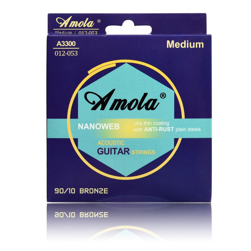 Original Amola polywen coating A3300 012 Acoustic Bronze Ulra Thin Coating Acoustic Guitar Strings amola a6002 acoustic guitar strings bronze with coating extra light 010 047 wound guitar strings