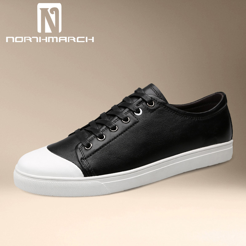 NORTHMARCH Fashion Sneakers Shoes Mens Genuine Leather Lace-Up Breathable Men Casual Shoes Moccasins Men Zapatillas Deportivas new fashion men shoe genuine leather lace up mixed colors man dress business casual shoes zapatillas deportivas zapatos hombre page 5