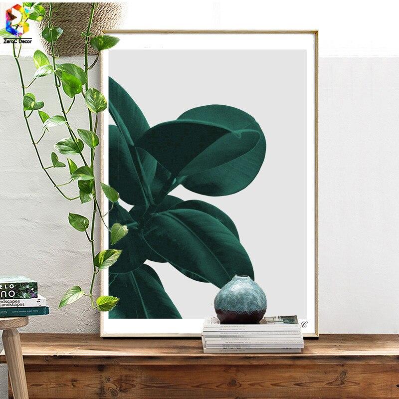 Nordischen Stil Grüne Pflanze Poster Und Drucke Blatt Wandkunst Leinwand Malerei  Bilder Für Wohnzimmer Skandinavischen Wohnkultur