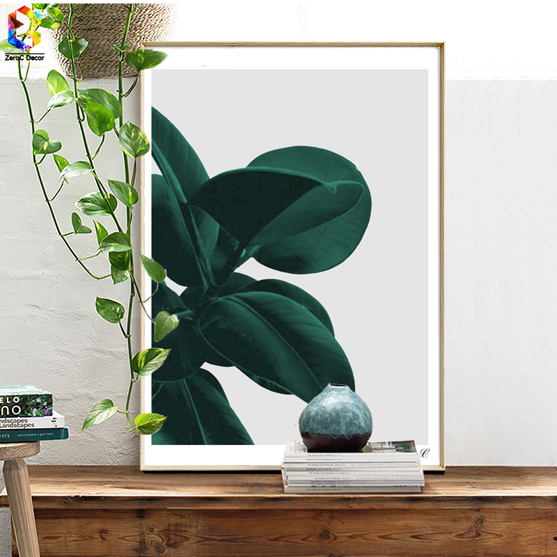 Nordic Style Green Plant Posters and Prints Leaf Wall Art Canvas Painting Pictures For Living Room Scandinavian Home Decor