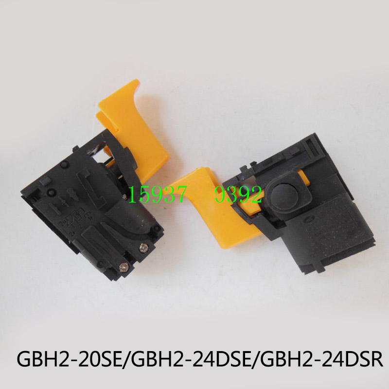 Free shipping!  Electric hammer Drill Speed Control Switch for bosch GBH2-20SE GBH2-24DSR/DSE,Power Tool Accessories free shipping original electric hammer drill speed control switch for bosch tsb1300 gsb500re power tool accessories