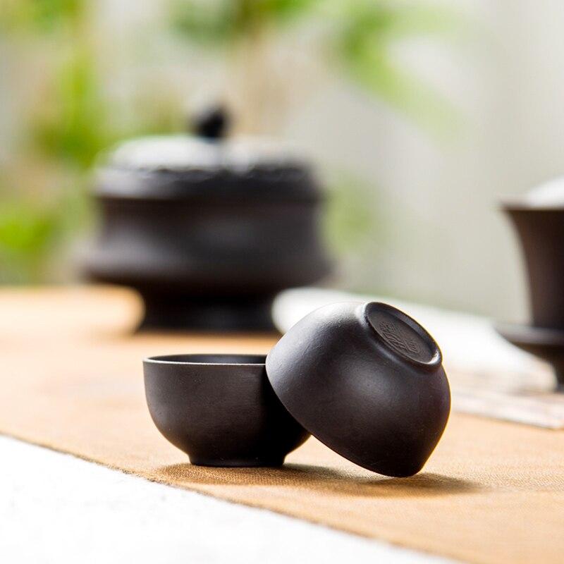 Teáscsésze Kávéscsésze lila agyag Teáscsésze Kínai kung fu - Konyha, étkező és bár - Fénykép 3
