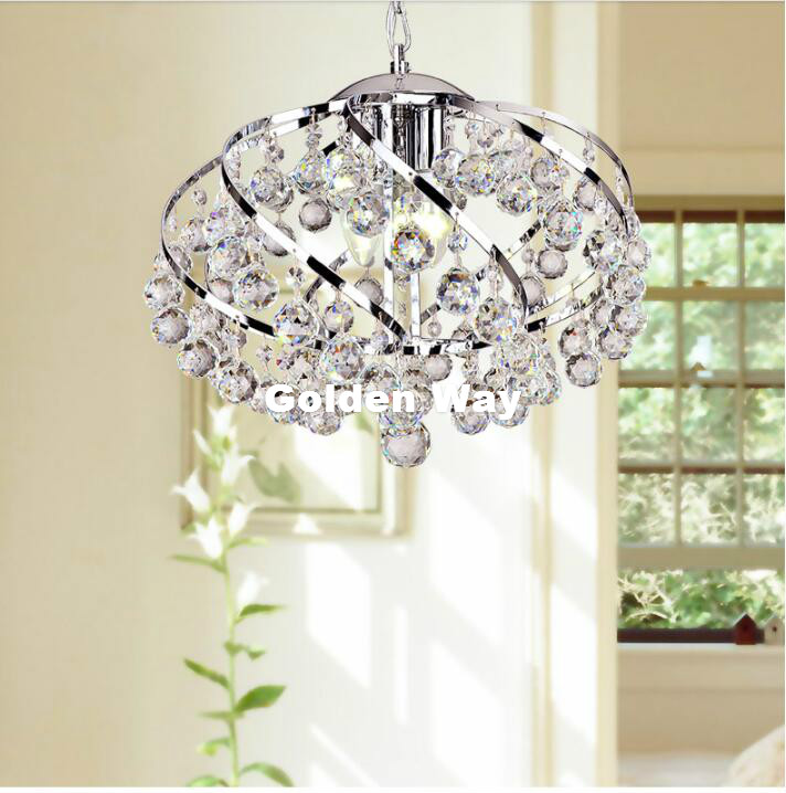 Free Shipping Modern Crystal Pendant Lamp Clear Colr D37cm H43cm Hanging Lamp  Lustre De Crystal Lustres De cristal Chandelier Pendant Lights     - title=