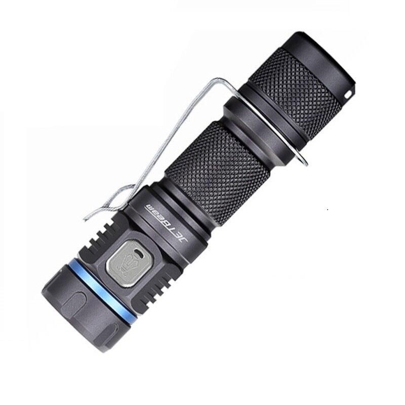 Original JETBeam E40R Mini USB Flashlight SST40 N4 BC LED 1100Lumens LED Flashlight with 18650 Battery