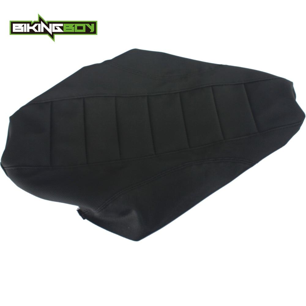 BIKINGBOY Black Motocross Offroad Gripper Ribbed Soft Seat Cover for Kawasaki KXF250 KXF450 KX250F KX450F KX 250 450 F 06 07 08