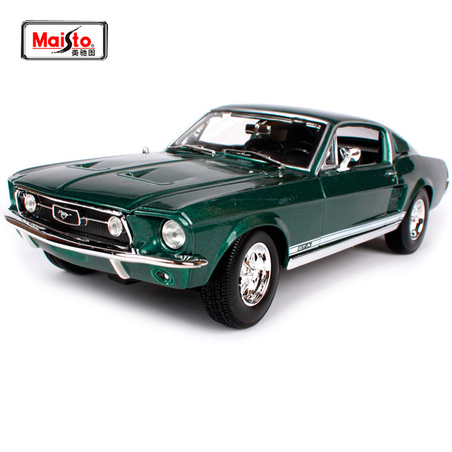Maisto 1 18 1967 Ford Mustang Gta Fastback Muscle Car Model Diecast