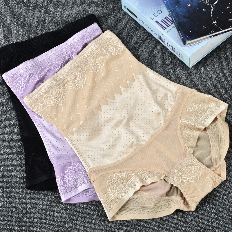 Postpartum belly pants New body shaping high waist buckle breathable Slim hip women
