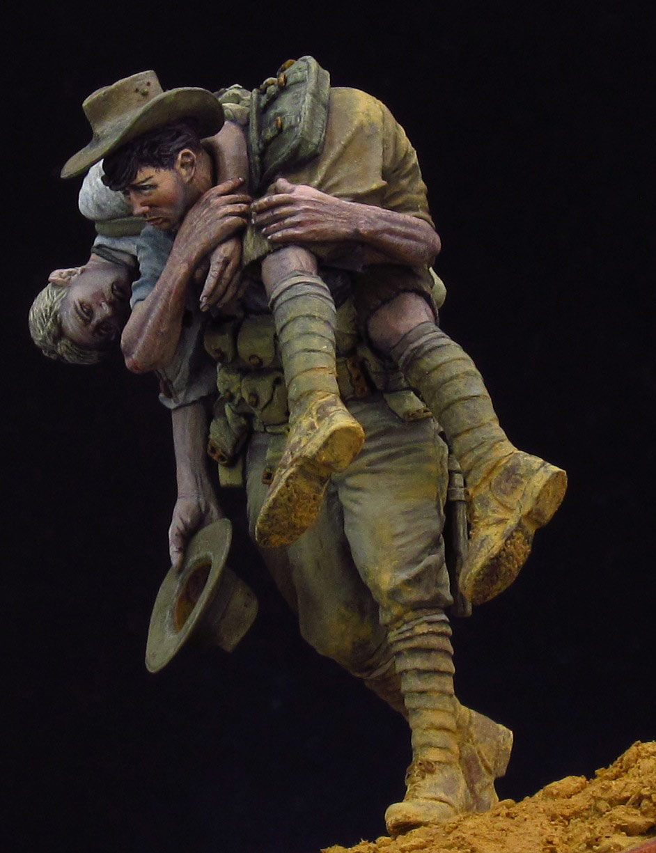Assembly  Unpainted Scale 1/24 75mm  Gallipoli Pair Historical Miniature Resin Model Garage Kit