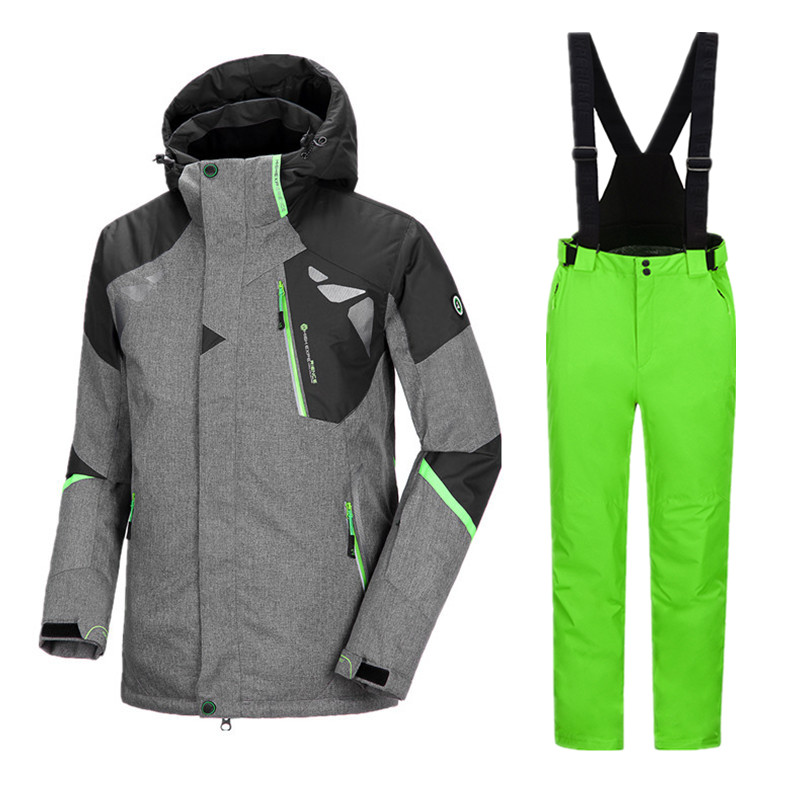 Image 3 - Thicken Winter Suit Ski Suit Men Ski Jacket Snowboard Suit Men Snowboarding Suits Snowboarding Set Male Winter Ski Suit SnowsuitSkiing Jackets   -