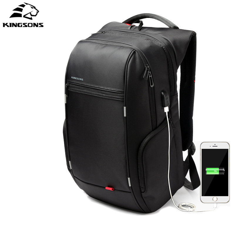 Kingsons Anti thief Waterproof USB bagpack 13 15 17 inches Laptop Backpack for Men school backpack