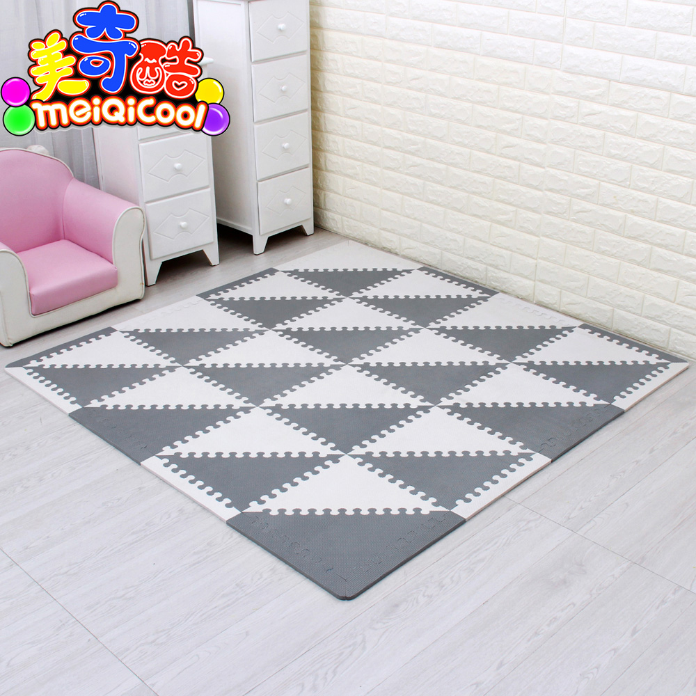 mei qi cool Baby Puzzle EVA Foam Mat Children Crawling Play Mat Kids Game Mats Gym Soft Floor Game Carpet triangle 35CM*1CM GREYmei qi cool Baby Puzzle EVA Foam Mat Children Crawling Play Mat Kids Game Mats Gym Soft Floor Game Carpet triangle 35CM*1CM GREY