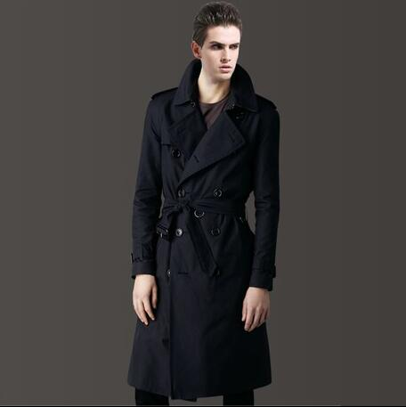 Mens trench coats spring autumn man long coat men clothes slim fit overcoat long sleeve 2020 new designer Double-breasted