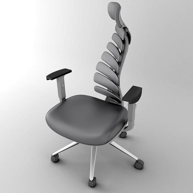 Ergonomic computer chair, office chair boss chair waist Fishbone chair gaming chair
