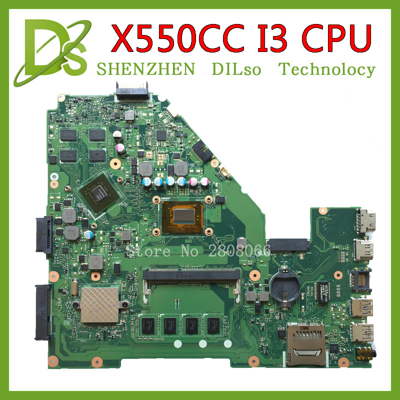 цена на KEFU X550CC motherboard for ASUS X550CC X550CL X552C Laptop motherboard Y581C mainboard REV2.0 i3 Test original motherboard