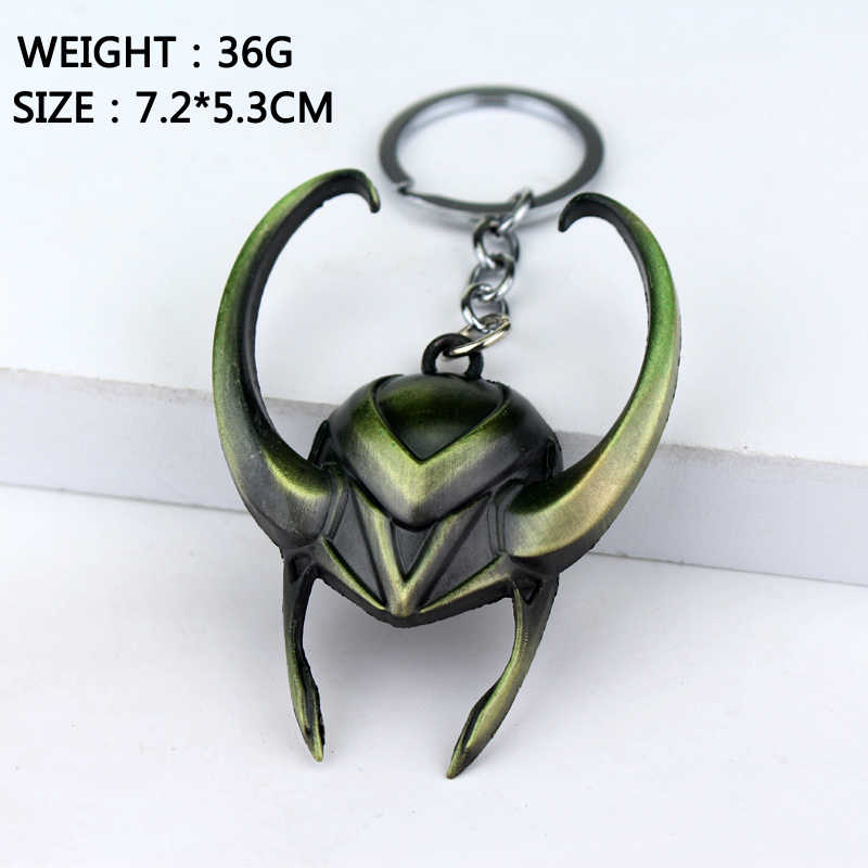 Marvel Movie Thor Ragnarok Avengers Loki Mask Alloy Car Keychain Holder Best Friend Graduation Chirstmas Day Gift