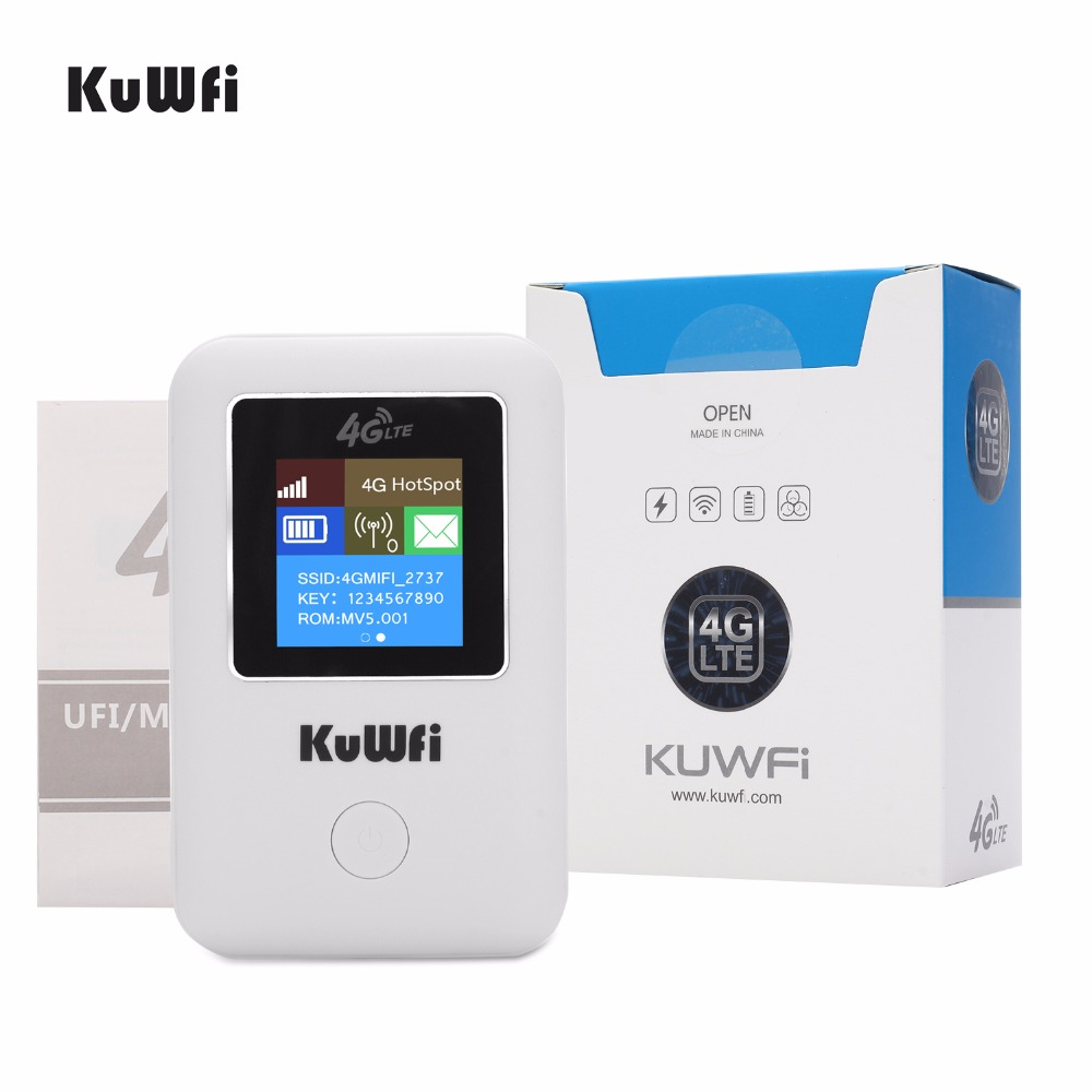 Image 5 - KuWFi Mini 4G LTE WIFI Router Unlocked Portable 3G/4G Wifi Router Modem Car Wi fi Router With Sim Card Slot-in 3G/4G Routers from Computer & Office