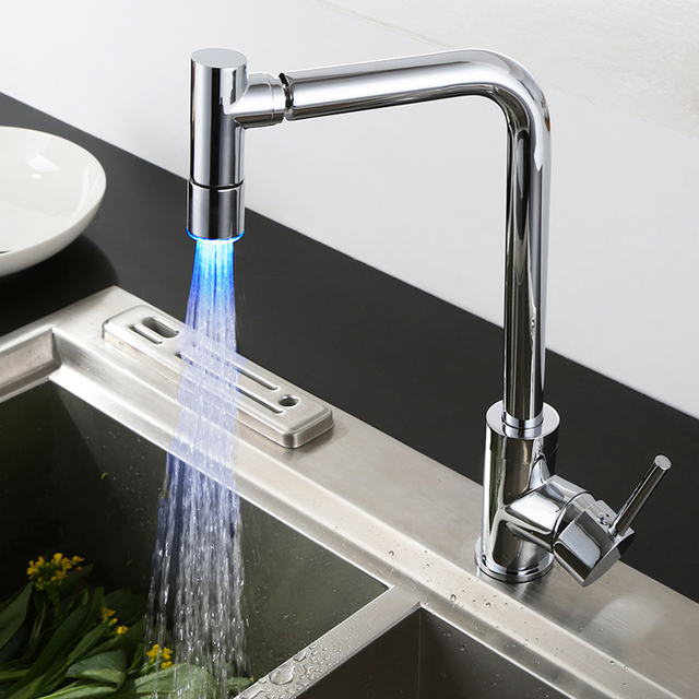 Superfaucet LED Kitchen Faucet,Shower Kitchen Faucet Replacement  Sprayer,Sink Taps Kitchen HG