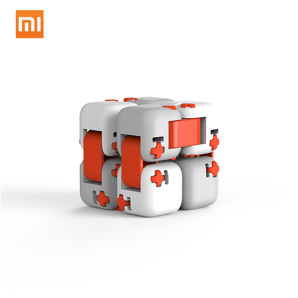 Xiaomi MITU Cube DIY Assemble Building Blocks Finger Spinner Fidget Anti-stress Relax Toy Gifts for Kids Adults(China)